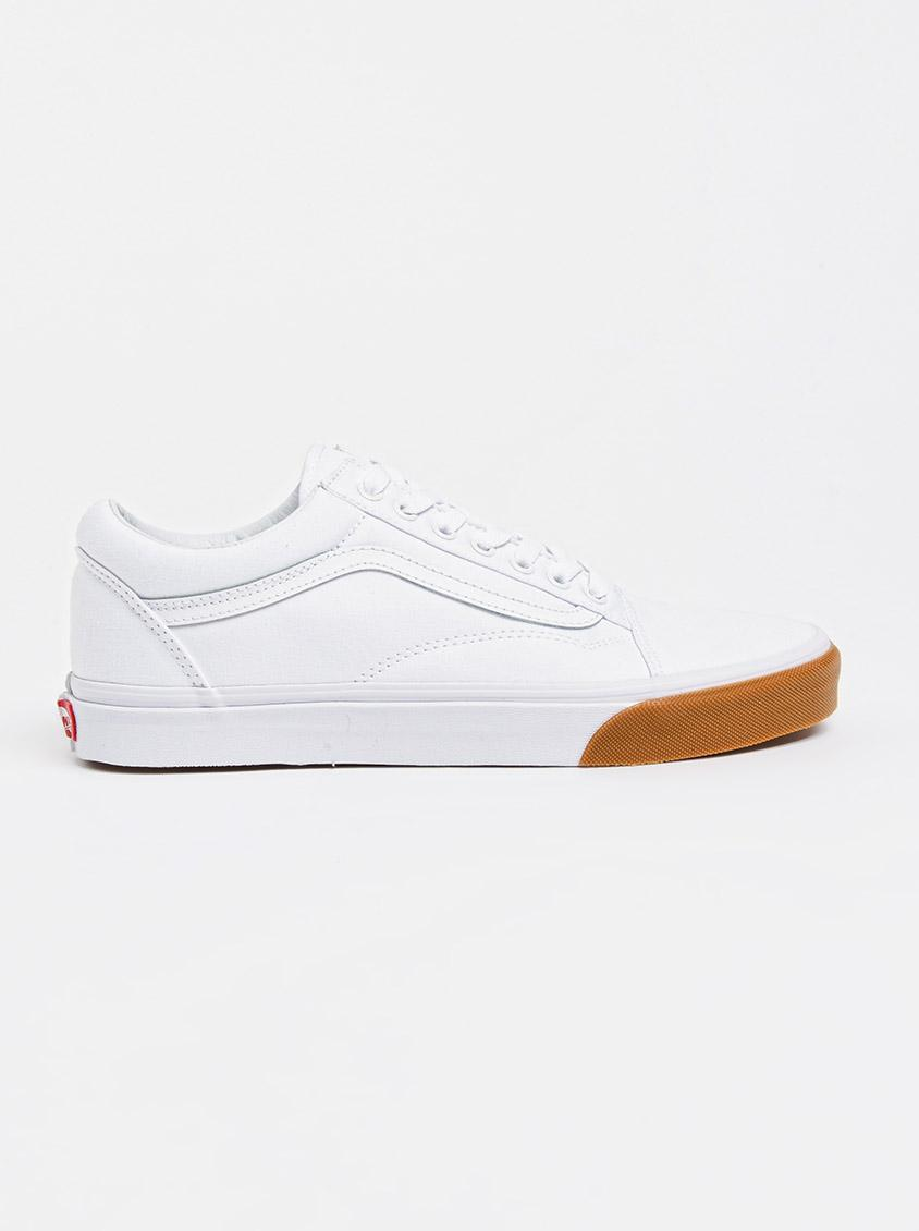 02f5772e1cb375 Old Skool Gum Bumper Sneakers White Vans Sneakers