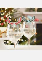 Ginger Ray - Antler Glass Decorations 10 Pcs