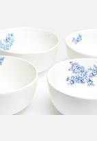 Urchin Art - Set of 4 Delft Bowls