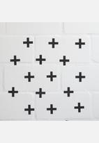 Sixth Floor - Swiss cross wall decal