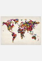 artPause - World map heart