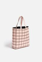 New Look - Pastel Grid Shopper