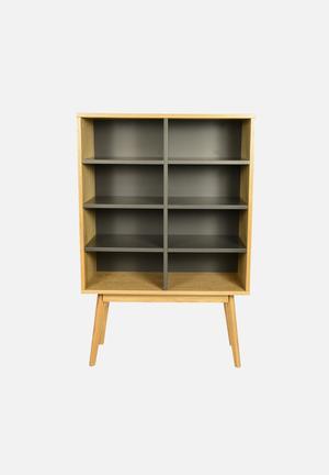 Sixth Floor Radius Bookshelf  Charcoal