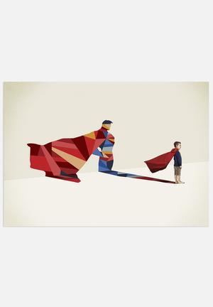 Jason Ratliff Walking Shadow - Superman Art