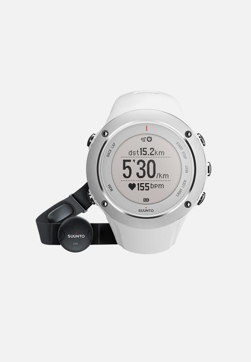 Ambit2 With Heart Rate Monitor White Suunto Fitness Trackers