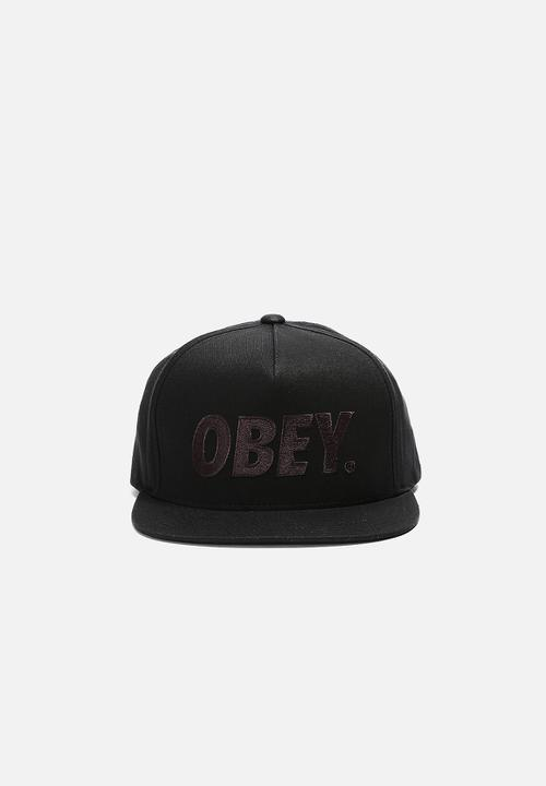 f1e11eebe18 The City Snapback Cap- Black Obey® Headwear