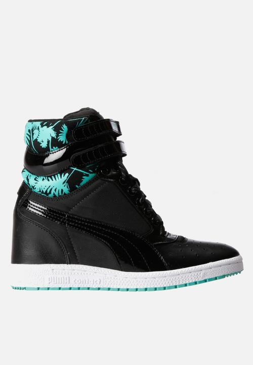 f3761fff792 Sky Wedge Topicalia – Black PUMA Sneakers