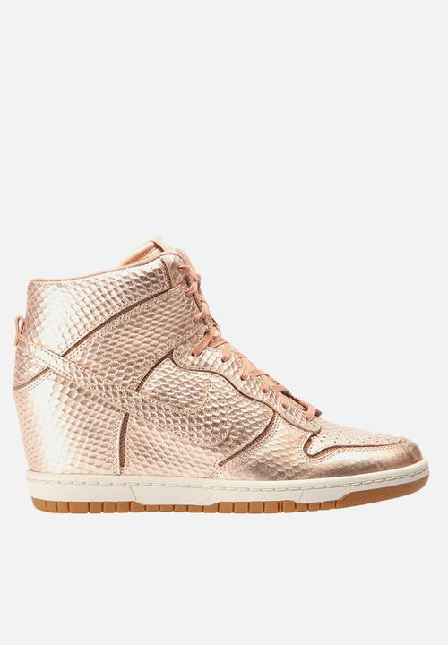 f3218bb4f0f7 Dunk Sky HI Cut Out PRM- Metallic Bronze Nike Sneakers
