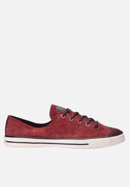 4fe3166efb54 Chuck Taylor All Star Fancy Suede- Maroon Converse Sneakers ...
