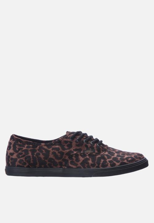 Authentic lo pro- Suede Leopard and Black Vans Sneakers ... a91c15b56