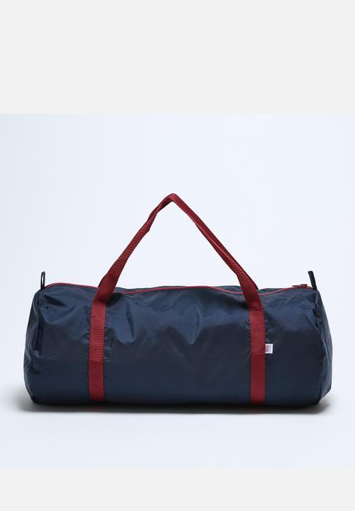 a4dffb848f87 Nylon Pack Cloth Gym Bag- Black Iris   Crimson American Apparel Bags ...