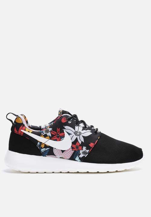 6cf9ed5b2de82 Roshe One Print - (FLORAL) - BLACK Nike Sneakers