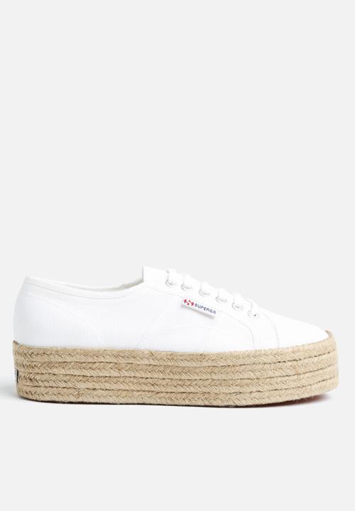 2790 Espadrille Wedge - White SUPERGA