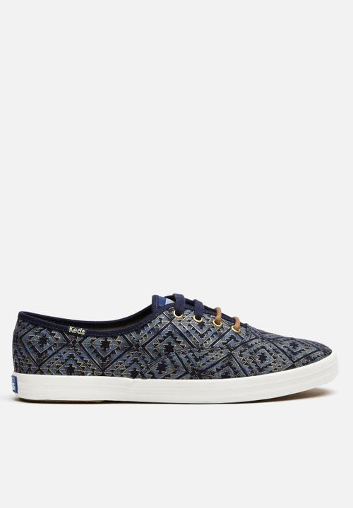 45e2b7923a9 Tribal - metallic navy Keds Sneakers