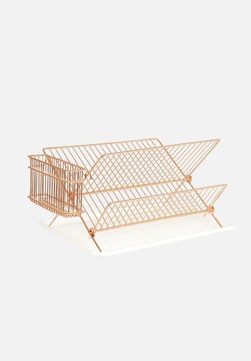 Dish rack - copper