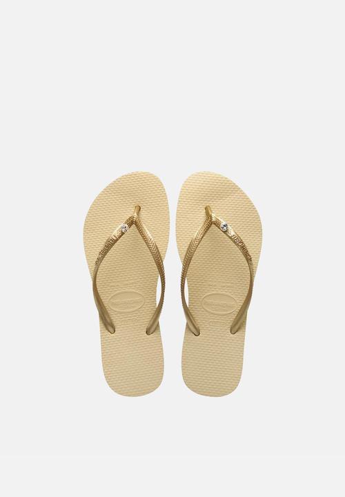 cd26ee6897d6a2 Slim Crystal Glamour – Gold Havaianas Sandals   Flip Flops ...