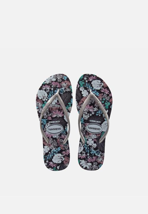 459faf23dbc499 Slim Floral – Grey Havaianas Sandals   Flip Flops