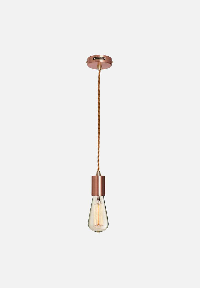 metallic pendant lighting design discoveries. Metallic Pendant Light \u0026 Fabric Cable Set - Copper Hoi P\u0027loy Lighting | Superbalist.com Design Discoveries