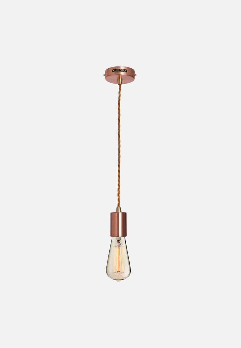 metallic pendant lighting design discoveries. Metallic Pendant Light \u0026 Fabric Cable Set - Copper Hoi P\u0027loy Lighting | Superbalist.com Design Discoveries