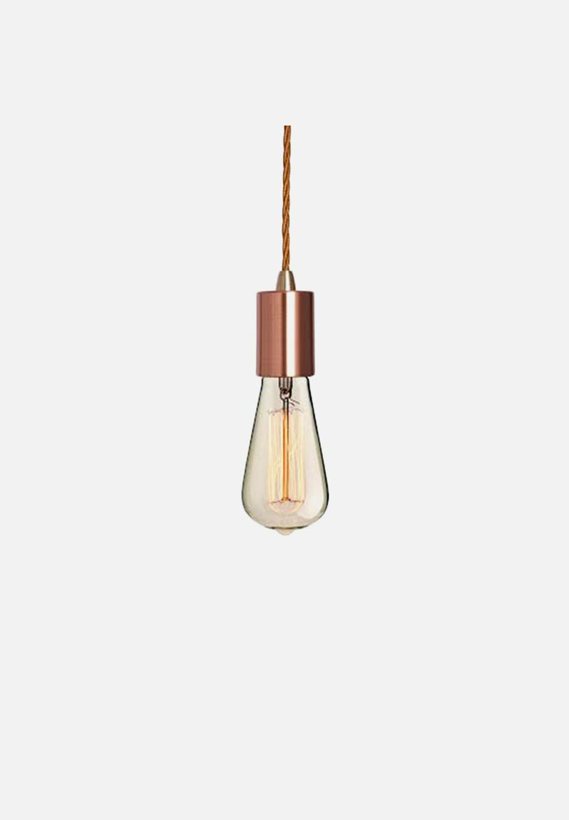 Metallic Pendant Light Fabric Cable Set Copper Hoi P