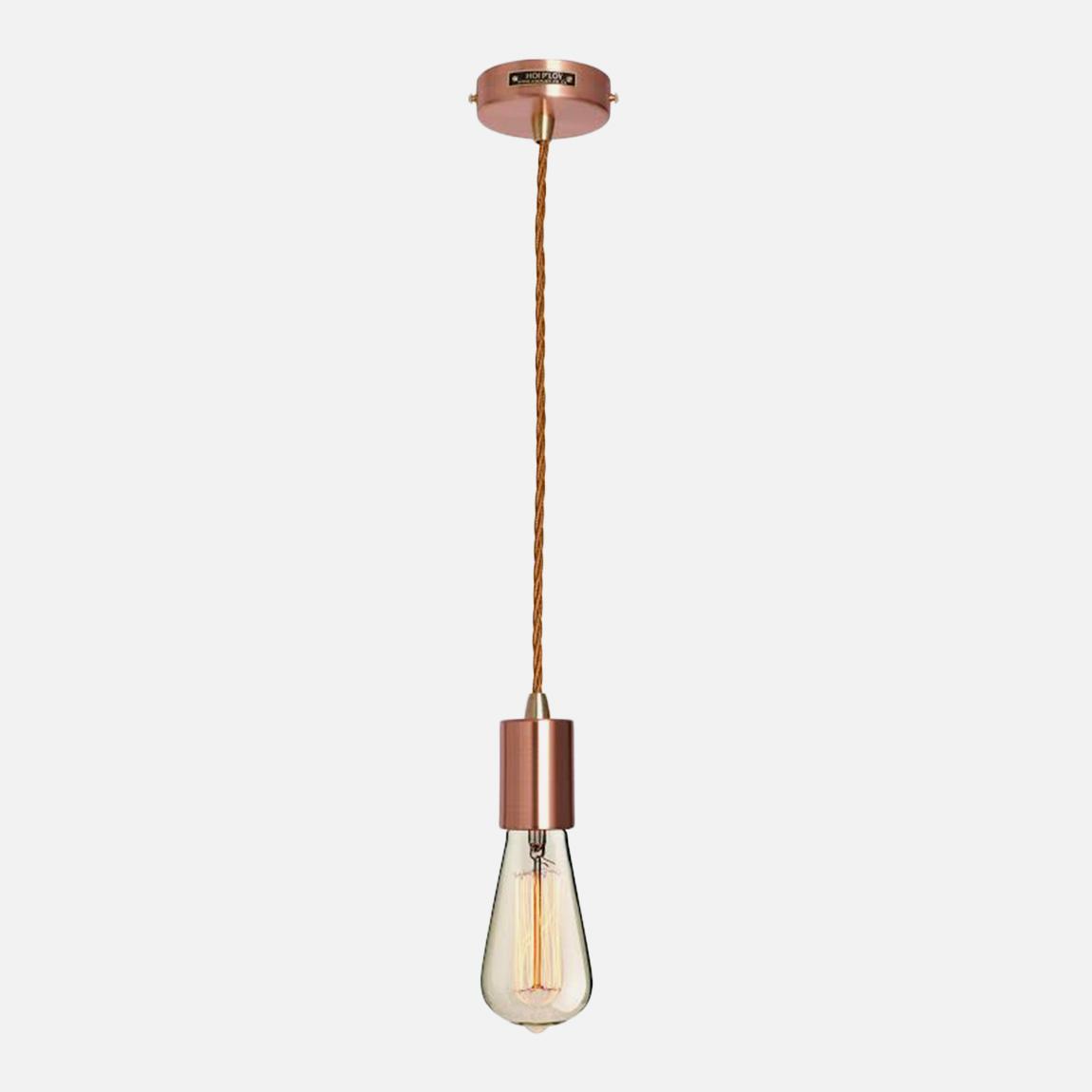 metallic pendant lighting design discoveries. Metallic Pendant Light \u0026 Fabric Cable Set - Copper Hoi P\u0027loy Lighting   Superbalist.com Design Discoveries R