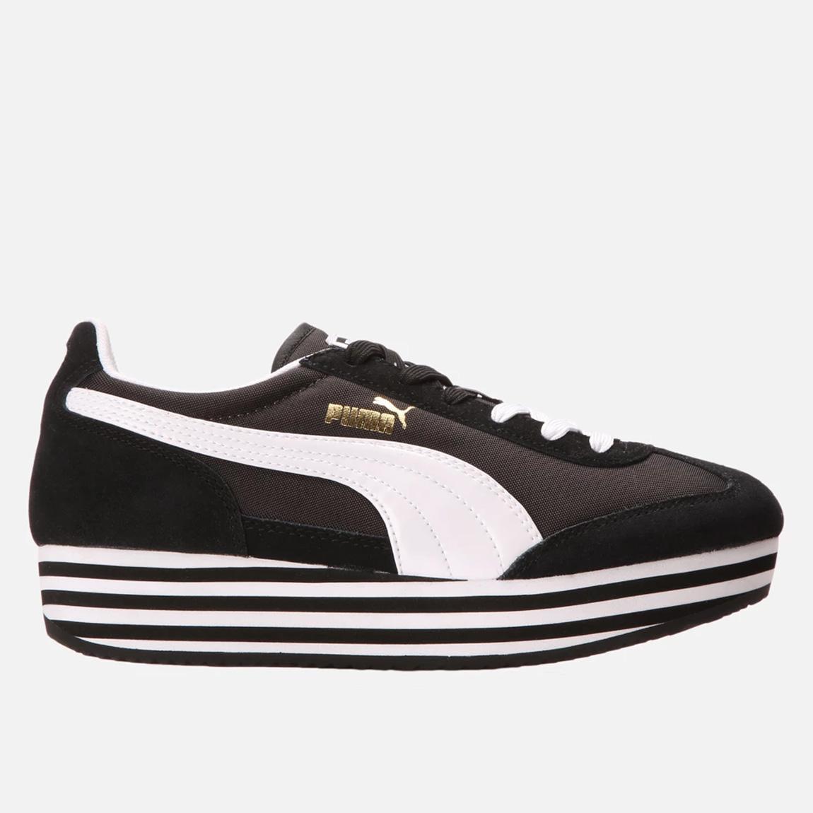 puma sf77 platform black and white puma sneakers. Black Bedroom Furniture Sets. Home Design Ideas