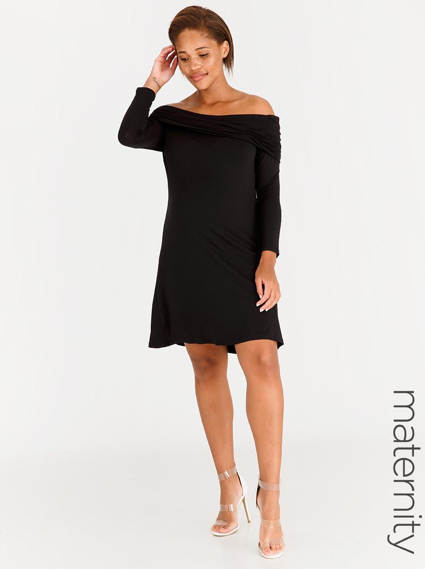 6ea2e3ae6 Black Tie Maternity Dress Long Sleeve