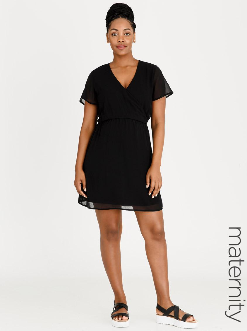 9a9b805e9c847 Flutter Sleeve Dress Black edit Maternity Dresses & Jumpsuits |  Superbalist.com