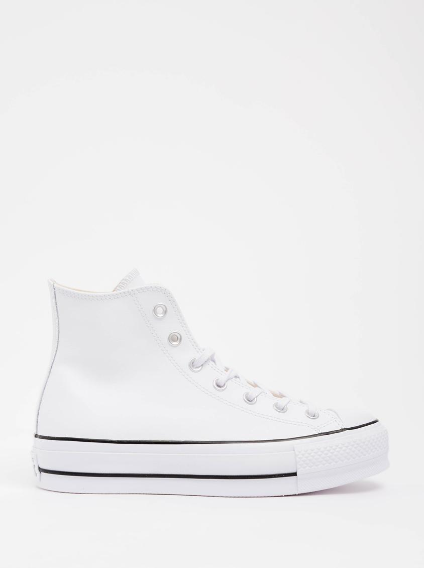2726bbee91d Chuck Taylor All Star Lift Clean - Hi - White - Leather Converse Sneakers